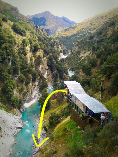Jump platform, Shotover Canyon Swing
