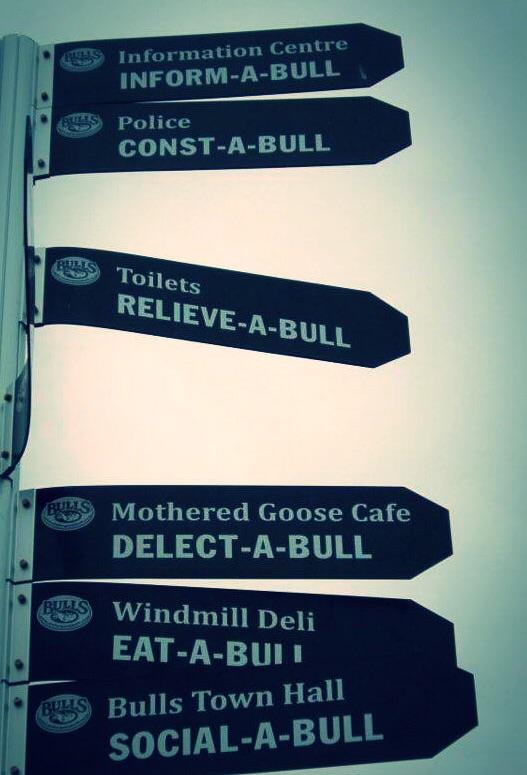 Information sign, Bulls