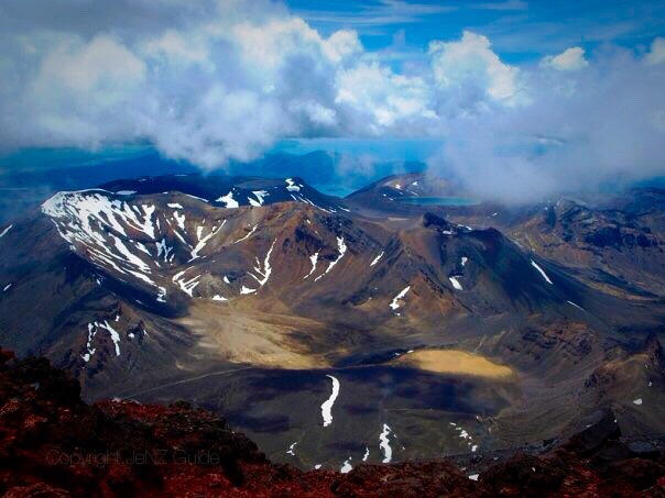 View over the Tongariro Alpine Crossing